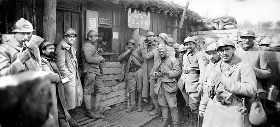 The co-operative of the 134th Brigade, selling wine, food and small nick-knacks to the men.