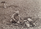 A skirmish line digging fighting positions in 1918.