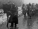 A march through the snow in Artois.