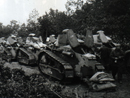 A column of Renault tanks (1918)