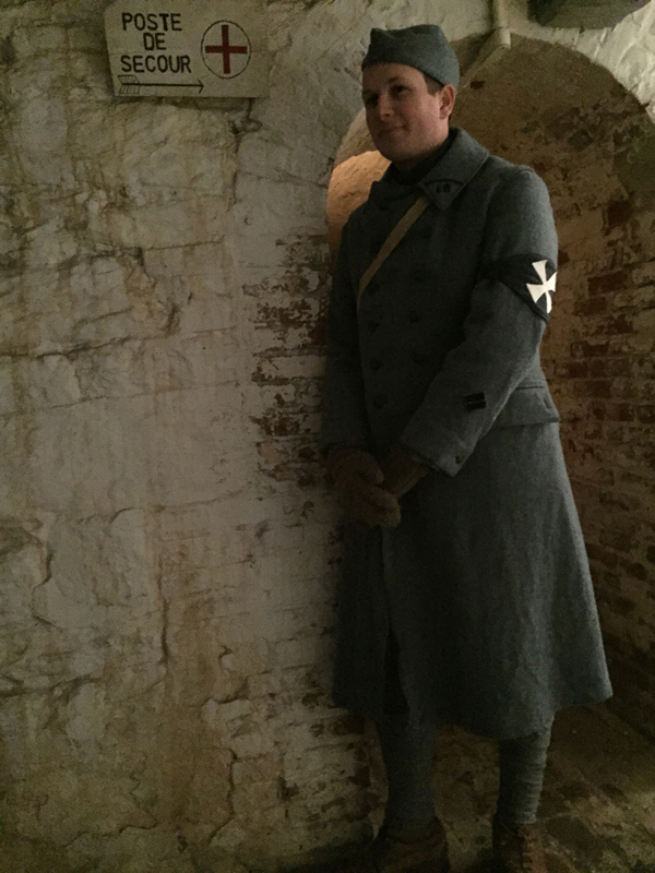 Sdt. Cardet of the 18e RI, Fort Mifflin, March 2015.