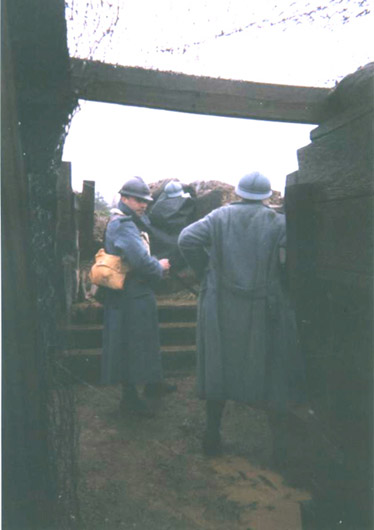 Soldiers of the 18<sup>th</sup> RI in their first line trench, April 2006.