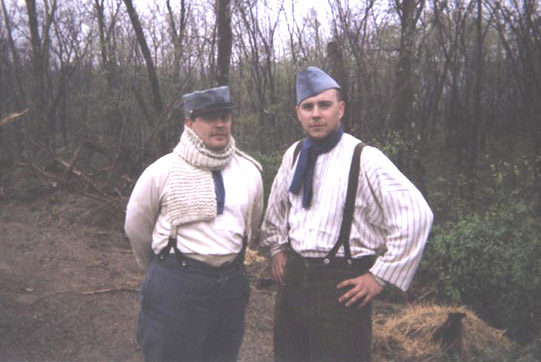 Cpl. Picard and Sdt. Martin in the rear, April 2006.