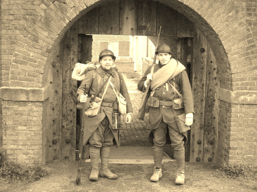 Cpl. Picard and Sdt. Nicholas, Fort Mifflin, March 2012.