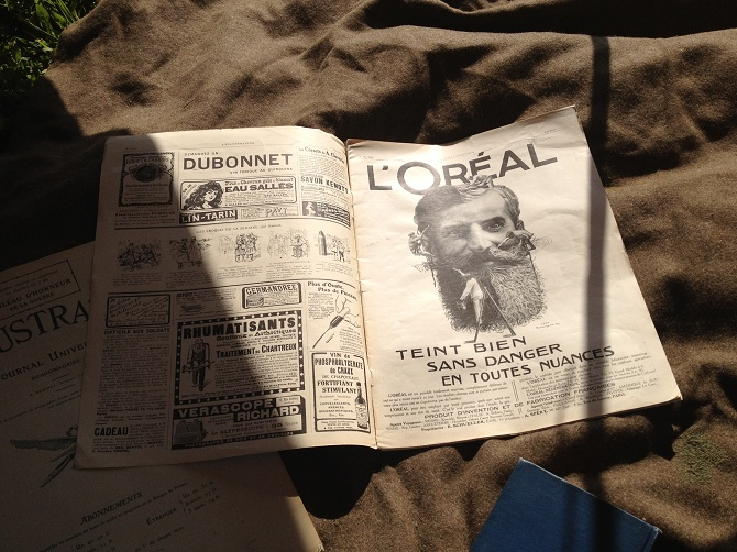 An old l'Oreal ad displayed in an edition of