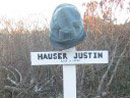 A memorial to our dear friend Sdt. Justin Hauser (Justin Hoover), erected in November 2006.
