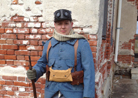 Cpl. Picard in 1915 kit. Fort Mifflin, March 2013.