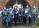 The 151 showing the evolution of the French infantry kit bteween 1915 and 1918. Fort Mifflin, March 2013.