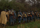 The French company marches to the battalion formation, Newville, April 2013.