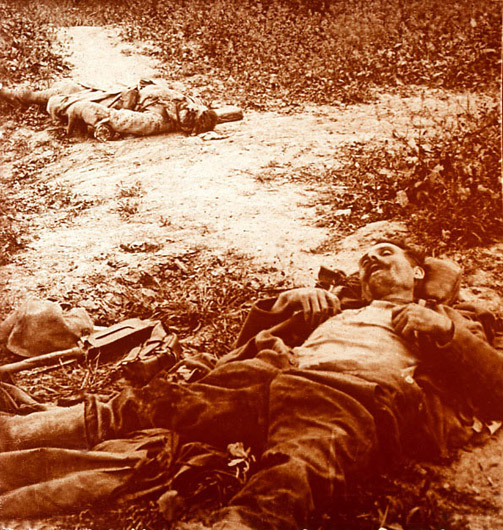 French and German corpses.