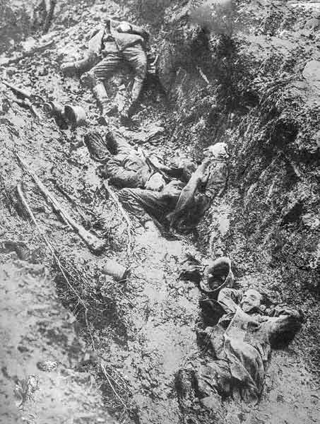 German dead in a trench.