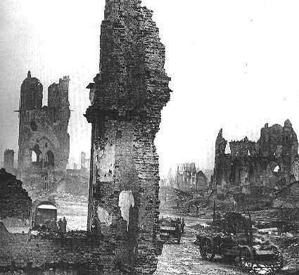 The destroyed city of Ypres.