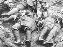 French corpses piled up in the Argonne.