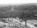 Destruction wrought on the Aisne countryside, 1917.